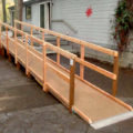 Wheelchair ramp built by Volunteer Interfaith Caregivers